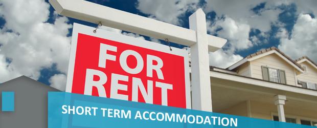 short term accommodation banner